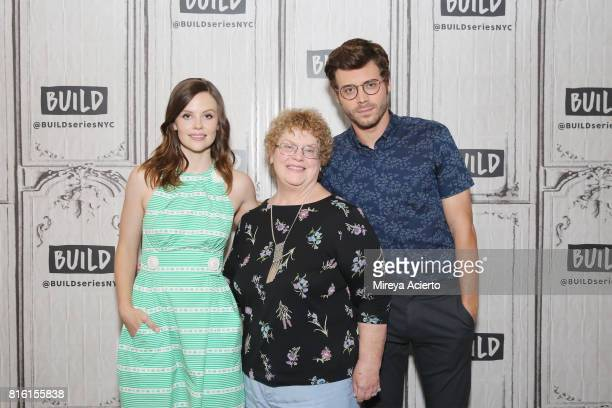 Actress Sarah Ramos author Charlaine Harris and actor Francois Arnaud visit Build to discuss the television series 'Midnight Texas' at Build Studio...