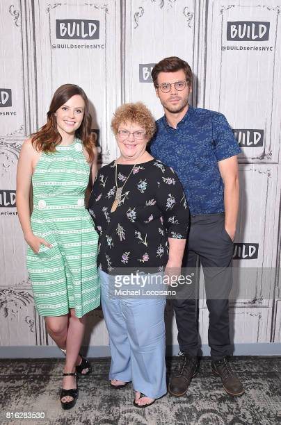 Actress Sarah Ramos author Charlaine Harris and actor Francois Arnaud visit the Build Series to discuss the new TV series 'Midnight Texas' at Build...