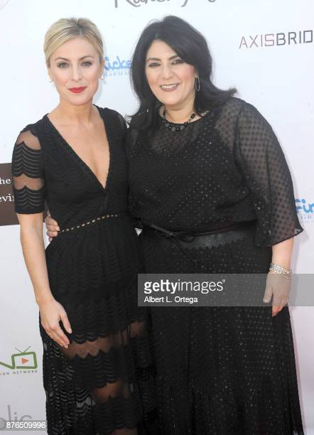 Actress Sarah Schreiber and host Karen Michelle at the Love Your Body Fashion Show And Shopping Event held at Luxe Sunset Boulevard Hotel on November...