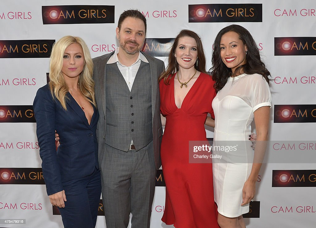 Actress Sarah Schreiber, director and executive producer David Slack, actress and exeutive producer Kate Bond and actress Annie Ruby attend the screening party for the new original web series, 'CAM GIRLS' at United Talent Agency on May 31, 2015 in Beverly Hills, California.