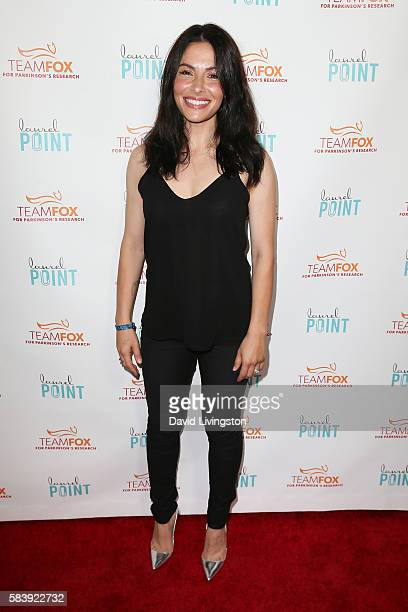 Actress Sarah Shahi arrives at Raising The Bar To End Parkinson's at Laurel Point on July 27 2016 in Studio City California