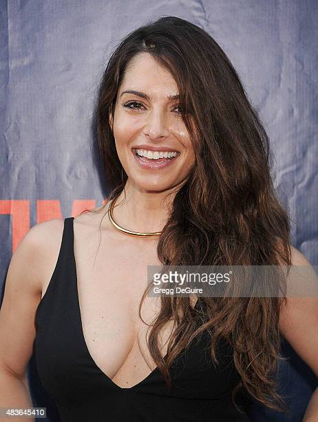 Actress Sarah Shahi arrives at the CBS CW And Showtime 2015 Summer TCA Party at Pacific Design Center on August 10 2015 in West Hollywood California