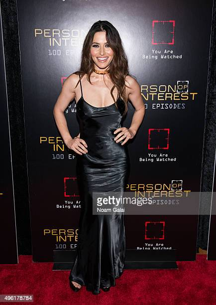 Actress Sarah Shahi attends 'Person Of Interest' 100th episode celebration event at 230 Fifth Avenue on November 7 2015 in New York City