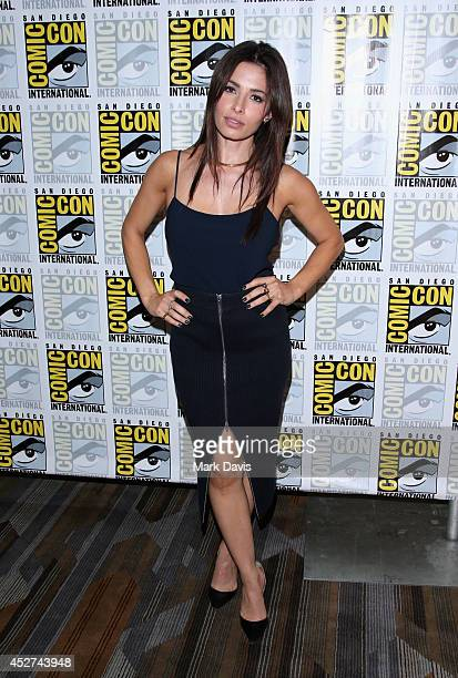 Actress Sarah Shahi attends 'Person of Interest' Press Line during ComicCon International 2014 at Hilton Bayfront on July 26 2014 in San Diego...