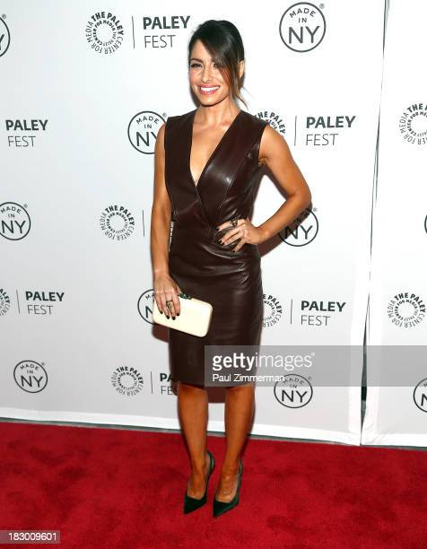 Actress Sarah Shahi attends the 'Person of Interest' panel during 2013 PaleyFest Made In New York at The Paley Center for Media on October 3 2013 in...