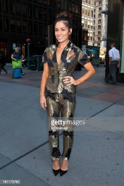Actress Sarah Shahi visits 'Extra' in Times Square on September 19 2013 in New York City
