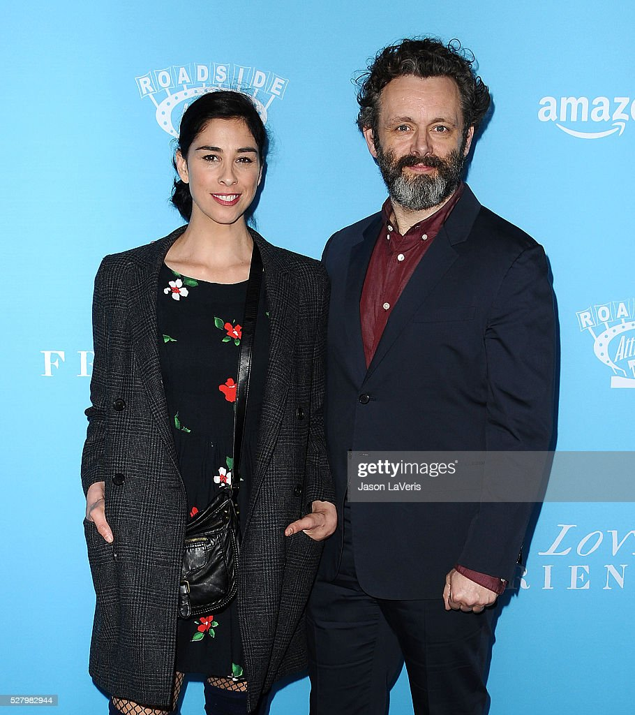 Actress <a gi-track='captionPersonalityLinkClicked' href=/galleries/search?phrase=Sarah+Silverman&family=editorial&specificpeople=241299 ng-click='$event.stopPropagation()'>Sarah Silverman</a> and actor <a gi-track='captionPersonalityLinkClicked' href=/galleries/search?phrase=Michael+Sheen&family=editorial&specificpeople=213120 ng-click='$event.stopPropagation()'>Michael Sheen</a> attend the premiere of 'Love and Friendship' at Directors Guild Of America on May 3, 2016 in Los Angeles, California.