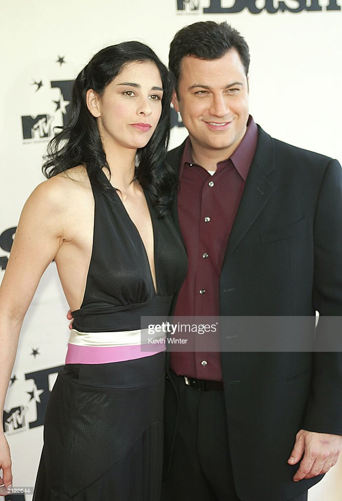 Actress Sarah Silverman and her boyfriend comedian Jimmy Kimmel attend MTV's Bash at the Hollywood Palladium on June 28, 2003 in Hollywood, California.