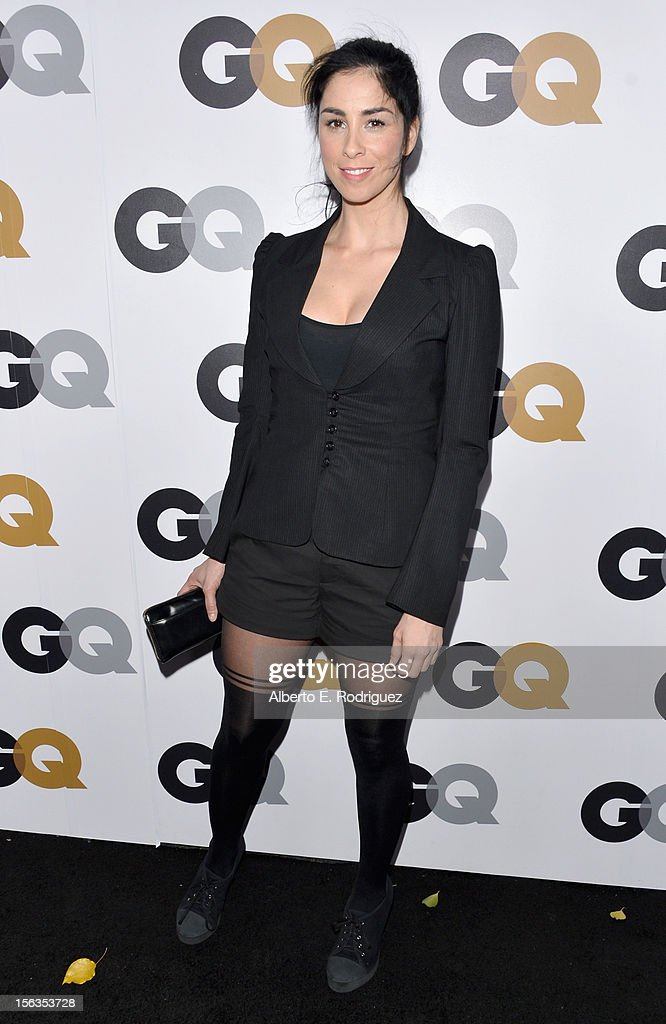 Actress <a gi-track='captionPersonalityLinkClicked' href=/galleries/search?phrase=Sarah+Silverman&family=editorial&specificpeople=241299 ng-click='$event.stopPropagation()'>Sarah Silverman</a> arrives at the GQ Men of the Year Party at Chateau Marmont on November 13, 2012 in Los Angeles, California.