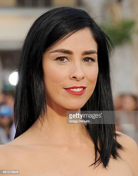 Actress Sarah Silverman arrives at the Los Angeles premiere of 'A Million Ways To Die In The West' at Regency Village Theatre on May 15 2014 in...