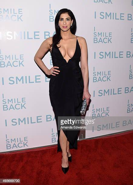 Actress Sarah Silverman arrives at the premiere of Broad Green Pictures' 'I Smile Back' at ArcLight Cinemas on October 21 2015 in Hollywood California