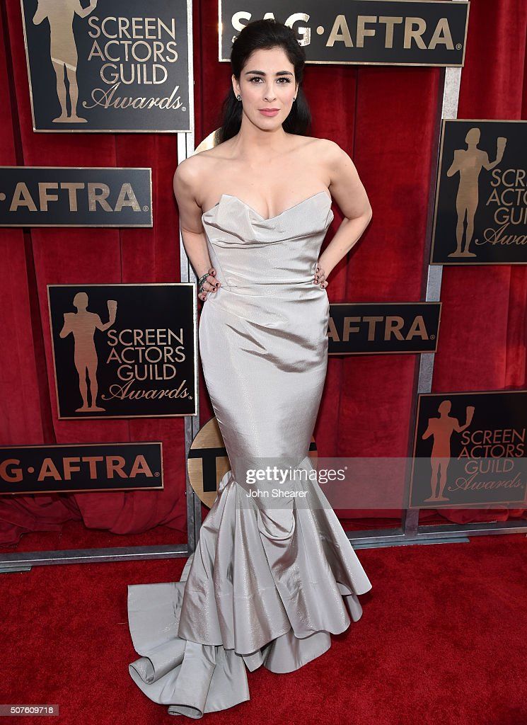 Actress Sarah Silverman attends the 22nd Annual Screen Actors Guild Awards at The Shrine Auditorium on January 30, 2016 in Los Angeles, California.