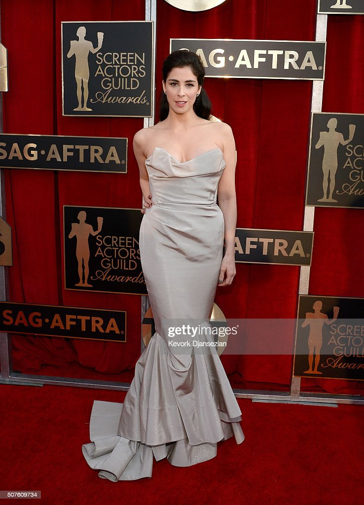Actress Sarah Silverman attends the 22nd Annual Screen Actors Guild Awards at The Shrine Auditorium on January 30 2016 in Los Angeles California