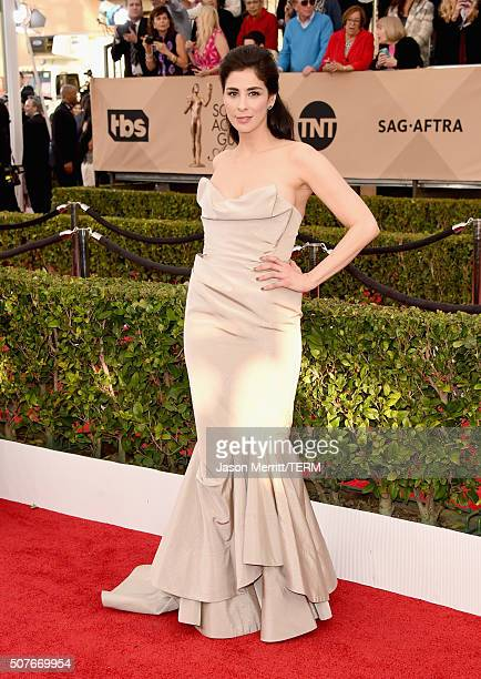 Actress Sarah Silverman attends The 22nd Annual Screen Actors Guild Awards at The Shrine Auditorium on January 30 2016 in Los Angeles California...