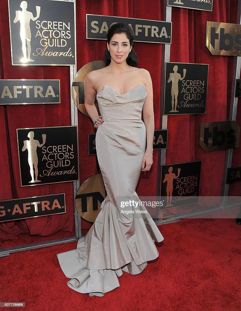 Actress <a gi-track='captionPersonalityLinkClicked' href=/galleries/search?phrase=Sarah+Silverman&family=editorial&specificpeople=241299 ng-click='$event.stopPropagation()'>Sarah Silverman</a> attends the 22nd Annual Screen Actors Guild Awards at The Shrine Auditorium on January 30, 2016 in Los Angeles, California.
