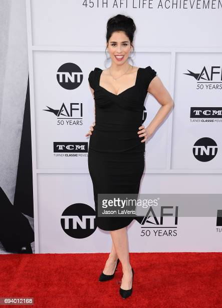 Actress Sarah Silverman attends the AFI Life Achievement Award gala at Dolby Theatre on June 8 2017 in Hollywood California