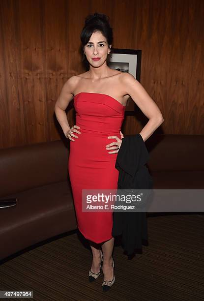 Actress Sarah Silverman attends the Broad Green Pictures Holiday Party on November 16 2015 in Los Angeles California