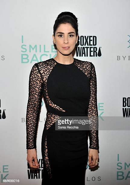 Actress Sarah Silverman attends the 'I Smile Back' dinner party during the 2015 Toronto International Film Festival at Byblos on September 16 2015 in...