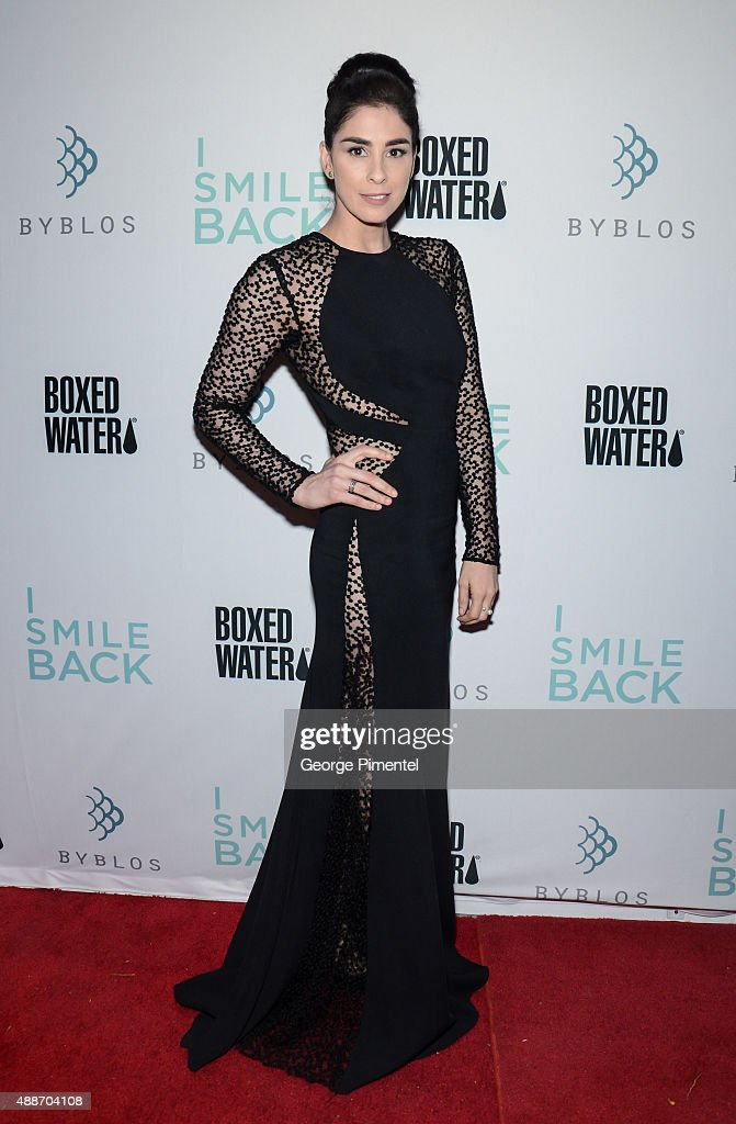 Actress <a gi-track='captionPersonalityLinkClicked' href=/galleries/search?phrase=Sarah+Silverman&family=editorial&specificpeople=241299 ng-click='$event.stopPropagation()'>Sarah Silverman</a> attends the 'I Smile Back' TIFF Dinner hosted by Boxed Water during the 2015 Toronto Interational Film Festival at Byblos on September 16, 2015 in Toronto, Canada.
