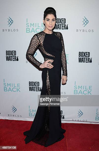 Actress Sarah Silverman attends the 'I Smile Back' TIFF Dinner hosted by Boxed Water during the 2015 Toronto Interational Film Festival at Byblos on...