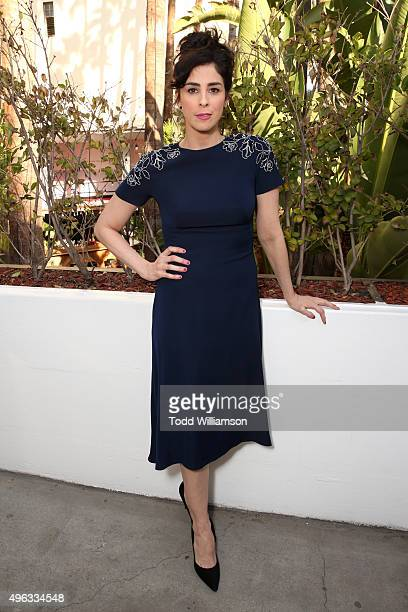 Actress Sarah Silverman attends the photo call for 'Indie Contenders Roundtable presented by The Hollywood Reporter' during AFI FEST 2015 presented...