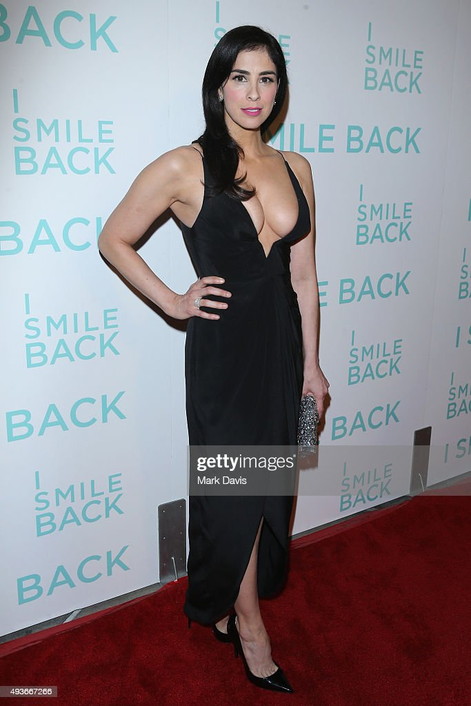 Actress Sarah Silverman attends the premiere of Broad Green Pictures' 'I Smile Back' at ArcLight Cinemas on October 21, 2015 in Hollywood, California.