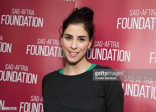 Actress Sarah Silverman attends the SAGAFTRA Foundation conversations with Sarah Silverman for 'I Smile Back' at at SAGAFTRA on November 23 2015 in...