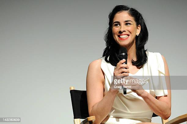 Actress Sarah Silverman attends the 'Take this Waltz' Premiere during the 2012 Tribeca Film Festival at the Borough of Manhattan Community College on...