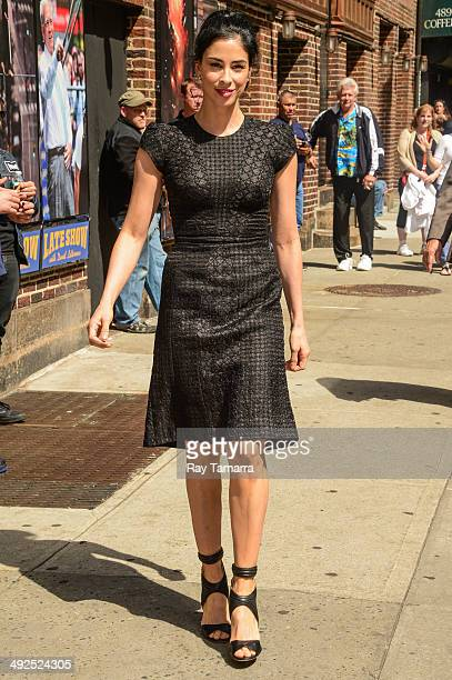 Actress Sarah Silverman enters the 'Late Show With David Letterman' taping at the Ed Sullivan Theater on May 20 2014 in New York City