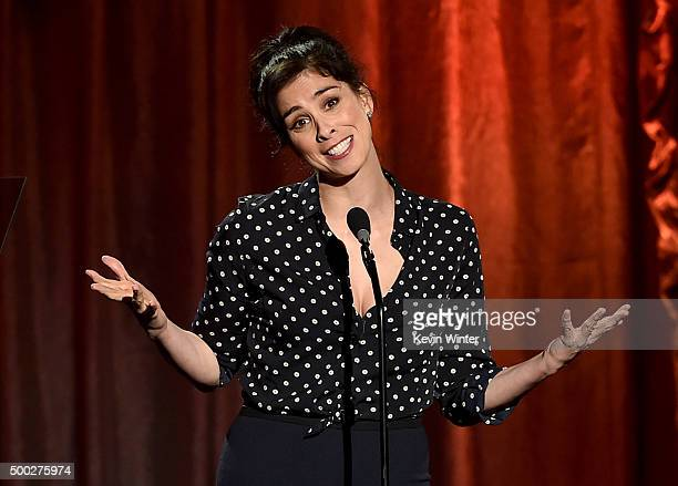 Actress Sarah Silverman speaks onstage during TrevorLIVE LA 2015 at Hollywood Palladium on December 6 2015 in Los Angeles California