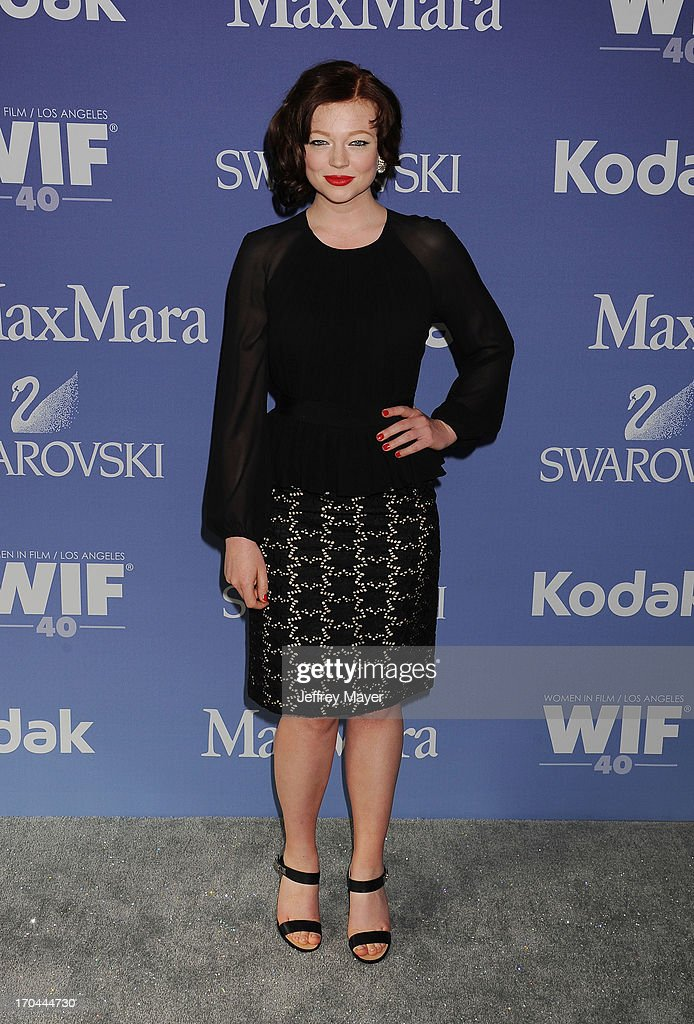 Actress Sarah Snook attends Women In Film's 2013 Crystal + Lucy Awards at The Beverly Hilton Hotel on June 12, 2013 in Beverly Hills, California.