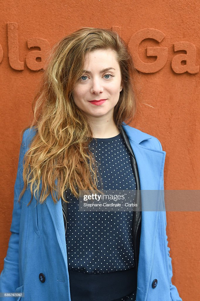 Actress Sarah Suco attends day eight of the 2016 French Open at Roland Garros on May 29, 2016 in Paris, France.