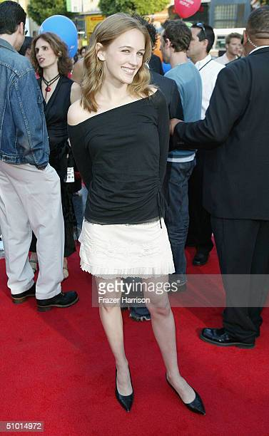 Actress Sarah Thompson arrives at the World Premiere of 'LA Twister' on June 30 2004 at the Grauman's Chinese Theatre in Hollywood California