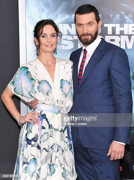 Actress Sarah Wayne Callies and actor Richard Armitage attend the 'Into The Storm' premiere at AMC Lincoln Square Theater on August 4 2014 in New...