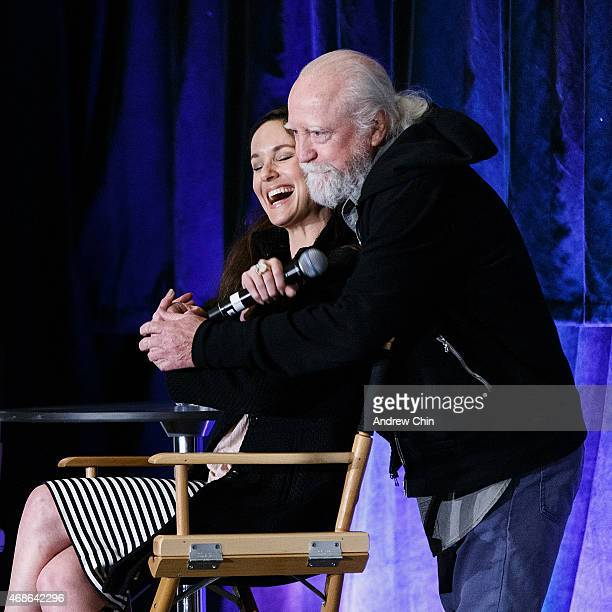 Actress Sarah Wayne Callies and actor Scott Wilson onstage at the Celebrity QA during 'Fan Expo Vancouver 2015' at the Vancouver Convention Centre on...