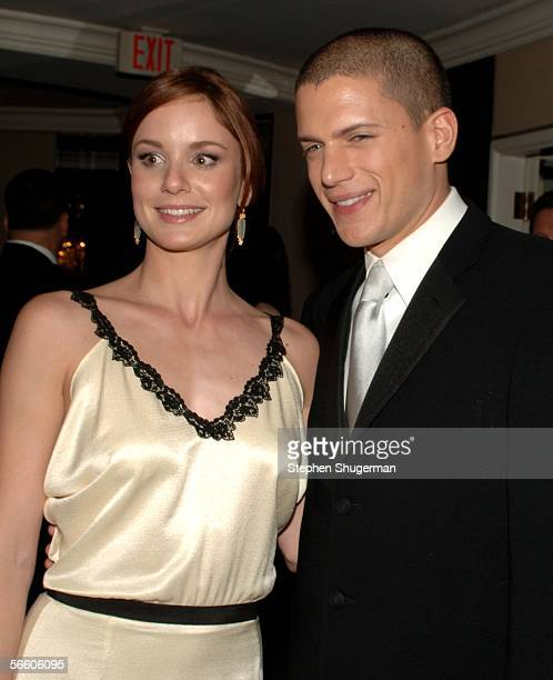 Actress Sarah Wayne Callies and Actor Wentworth Miller attend the FOX Golden Globe after party held at the Beverly Hilton on January 16 2006 in...