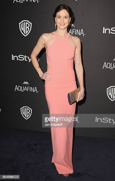 Actress Sarah Wayne Callies arrives at the 2016 InStyle And Warner Bros 73rd Annual Golden Globe Awards PostParty at The Beverly Hilton Hotel on...