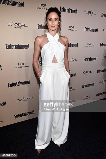 Actress Sarah Wayne Callies attends the 2015 Entertainment Weekly PreEmmy Party at Fig Olive Melrose Place on September 18 2015 in West Hollywood...