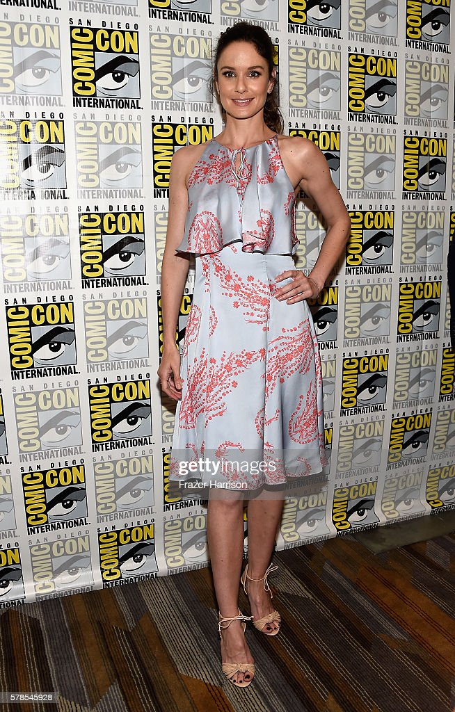 Actress Sarah Wayne Callies attends the 'Colony' press line during Comic-Con International 2016 at Hilton Bayfront on July 21, 2016 in San Diego, California.