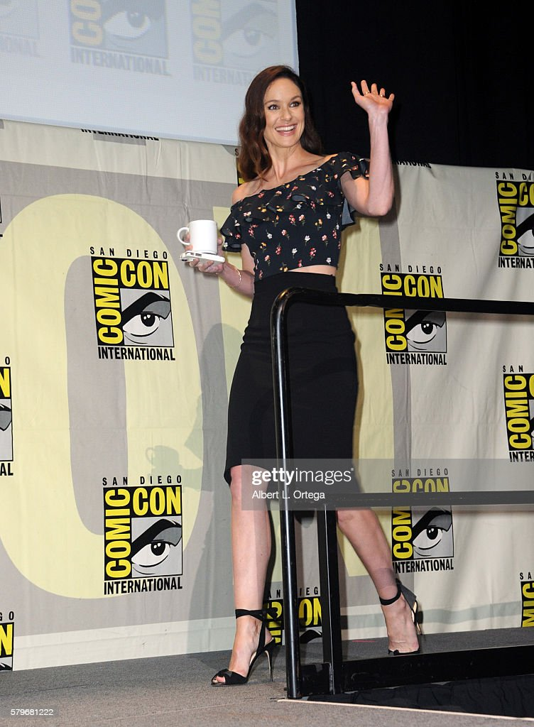 Actress Sarah Wayne Callies attends the Fox Action Showcase 'Prison Break' And '24 Legacy' during ComicCon International 2016 at San Diego Convention...
