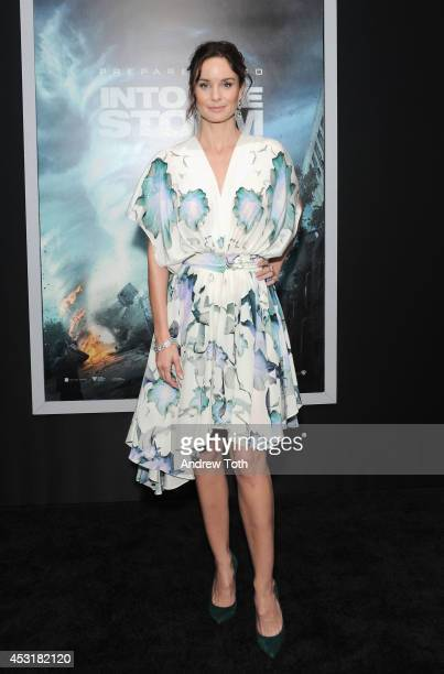 Actress Sarah Wayne Callies attends the 'Into The Storm' premiere at AMC Lincoln Square Theater on August 4 2014 in New York City