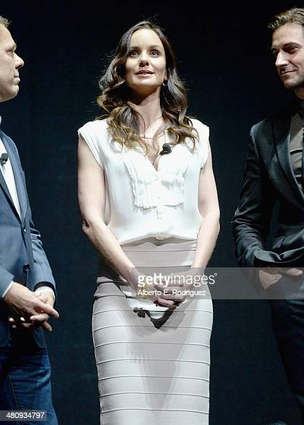 "Actress Sarah Wayne Callies onstage during Warner Bros Pictures' ""The Big Picture"" an Exclusive Presentation Highlighting the Summer of 2014 and..."