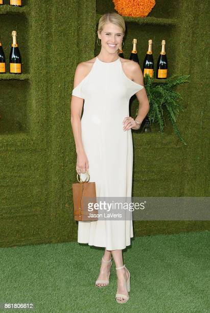 Actress Sarah Wright Olsen attends the 8th annual Veuve Clicquot Polo Classic at Will Rogers State Historic Park on October 14 2017 in Pacific...