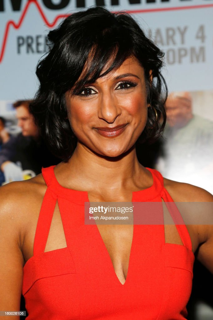 Actress Sarayu Rao attends the screening of TNT's 'Monday Mornings' at BOA Steakhouse on January 24, 2013 in West Hollywood, California.