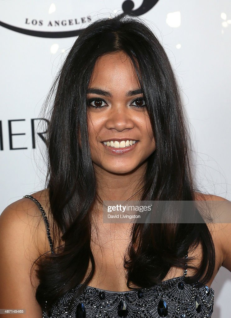 Actress Sari Arambulo attends Ryan Newman's Glitz and Glam Sweet 16 birthday party at the Emerson Theater on April 27, 2014 in Hollywood, California.