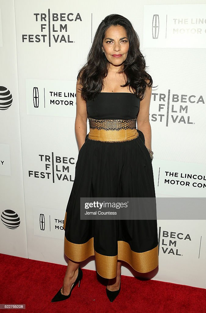 Actress Sarita Choudhury attends 'A Hologram For The King' World Premiere at the John Zuccotti Theater at BMCC Tribeca Performing Arts Center on April 20, 2016 in New York City.