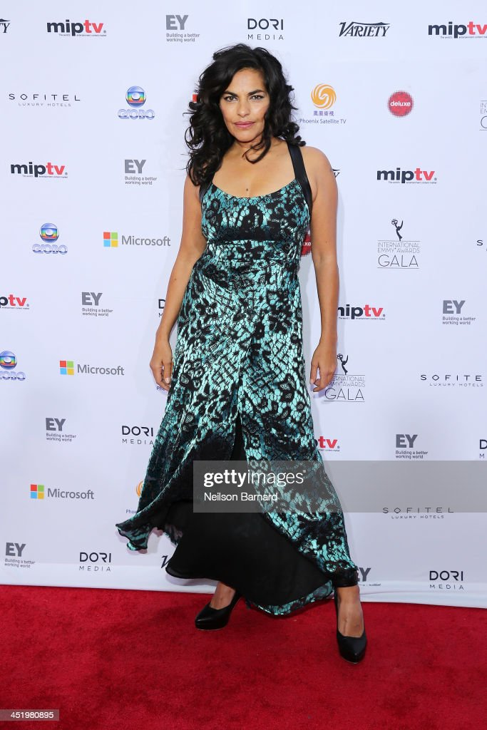 Actress Sarita Choudhury attends the 41st International Emmy Awards at the Hilton New York on November 25, 2013 in New York City.