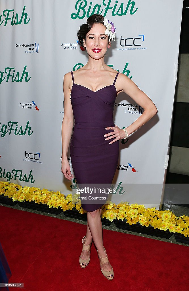 Actress Sarrah Strimel attends the 'Big Fish' Broadway Opening Night After Party at Roseland Ballroom on October 6, 2013 in New York City.