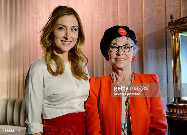 Actress Sasha Alexander and actress Rita Moreno who will receive Screen Actors Guild 50th recipient of the SAG Life Achievement Award during...