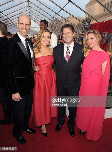 Actress Sasha Alexander and guest attend 20th Annual Screen Actors Guild Awards at The Shrine Auditorium on January 18 2014 in Los Angeles California